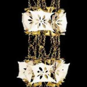 2.7m Gold 8 Section Christmas Foil Garland Decoration