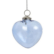 Christmas Baubles Blue Heart Hanging Glass Christmas Tree Decoration By Hubsch