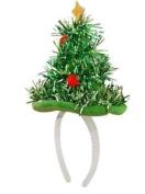 Mini Christmas Tree Hat Headband Hat Santa Tinsel Fancy Dress Novelty Xmas Party