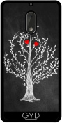 Silicone Case for Nokia 6 - Tree & Hearts by Warp9