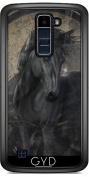 Case for LG K8 2017 - Gothic Friesian Horse by Gatterwe