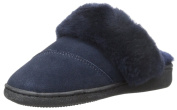 Pajar Womens Astrid Suede Faux Fur Scuff Slippers