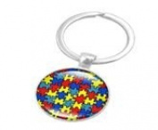Autism Bright Colourful Jigsaw Keychain Keyring - Support Autism Love Someone with Autism