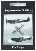 Spitfire Pin Badge -- Silver Plated Fine English Pewter