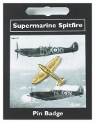 Spitfire Pin Badge -- Gold Plated Fine English Pewter