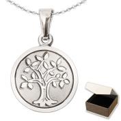 Clever Jewellery Set -- Silver Small Mini Tree of Life Pendant Diameter