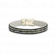 Style Women's Bracelet with Magnetic Clasp Great Multi Bracelet Adorned with Small White Crystals and Chain 18.5 cm 2263