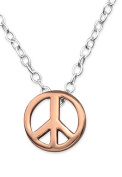 Peace Sign Necklace - 925 Sterling Silver - Pendant Size