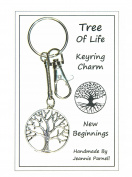 W026 - Tree of Life Charm Keyring - New Beginnings - Handmade by Jeannieparnell