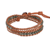 2 Wraps Bracelet On Genuine Leather New Bangle Handmade Woven Multilayers Chain