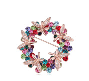 La Vivacita Stunning dragonfly Brooch Crystals 18ct gold plated gift for women