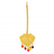 Goldplated Gold Plated Punjabi Wedding Jewellery Indian Mangtikka Colourful Classic Design For Women Girls