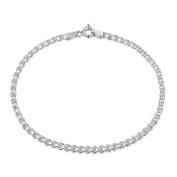 "Amberta 925 Sterling Silver 2.3 mm Heart Chain Bracelet Size 7"" 7.5"" 8"" in Silver/Gold/Rose"