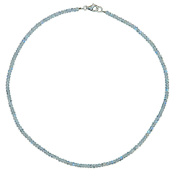 I Be, Rainbow Moonstone, Ø approx. 3 mm 925 Sterling Silver Faceted Necklace/Chain Clasp, Colour Black Silver, Length 42 cm in Gift Packaging 447903/42