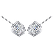 SILVERAGE 925 Sterling Silver Stud Earrings With Sparkling Cubic Zirconia For Women