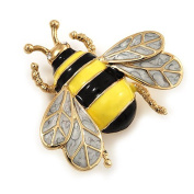 Designer Jewellery - Vintage gold bumble-bee Style Statement Bee Brooch 4cm