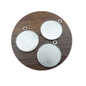 10pcs 20mm Silver plated/bronze Round Necklace Pendant Setting Cabochon Cameo Base Tray Bezel Blank Jewellery
