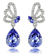 Lily Jewellery Ladies Fashion Butterfly Series Elements Crystal Novelty Earrings for Women