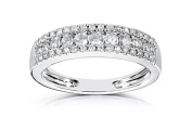 2.50 CARATS ROUND SHAPE 14KT SOLID WHITE GOLD MAN-MADE/SIMULATED DIAMOND SOLITAIRE WEDDING BAND