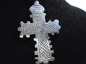 COPTIC CROSS exact replica ANCIENT TRIBAL CROSS 64 mm x 44 mm PENDANT unique Ancient Silver Pendant engraved two/ sided necklace ,Beautifully Silver plated with carbonised effects, rare , new with tag