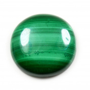 CaratYogi Natural Round Malachite Gemstone 16.6 Carat Genuine Loose For Jewellery making AAA Quality