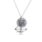 Lureme Vintage Silver The Walking Dead Inspired Zombie Apocalypse Design Charm Necklace