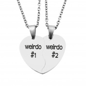 MJARTORIA Split Valentine Heart Rhinestone Best Friends Engraved Pendant Friendship Necklace Set of 2