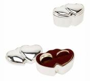 Sophia Silverplated Double Heart Wedding Ring Box