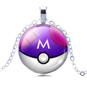 Necklace Pokemon Ball Go Poke 'Pokeball In 6 Colours To Choose