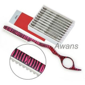 Hairdressing Thinning Razor, Hair Styling Razor, Pink Zebra Pattern + 10 Spare