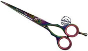Hairdressing Scissors, Titanium Hair Scissors, Barber Scissors Ms 15cm Inch
