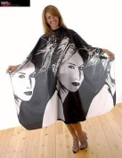 Hair Tools Cutting Gown - Black & White Portrait Design