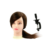 Micro Trader Hairdressing 46cm 100% Real Human Hair Training Head With Clamp