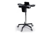 Deluxe Hair Colouring Station - Trolley Black