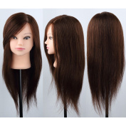 Fast Delivery 100% Real Human Long Hair Practise Mannequin Hairdressing Training