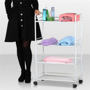 White 4 Shelf Large Salon Trolley Cart Beauty Spa Storage Equipment Rack