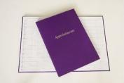 Agenda Salon Appointment Book - Purple - 6 Column