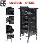 5 Drawer 6 Tiers Hairdresser Hair Salon Spa Trolley Beauty Cosmetic Storage Cart