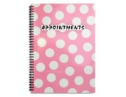 Polka Dot Appointment Book 4 Column - Pink