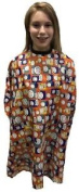 Kids Childs Unisex Boys Girls Cape Hairdessing Hair Gown Happy Face Print Orange