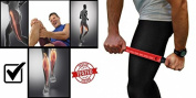 Physix Gear Sport Muscle Roller Stick - Best Deep Tissue Massager for Trigger Points, Leg Cramps, Quads, Calf & Hamstring Tightness - Fast Myofascial Release - Travels Easily and No Annoying Squeaks