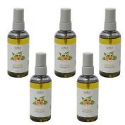 5 X 100ml Bottles Of C.m.s Quality Mandarin, Primrose & Sweet Almond Massage Oil