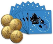 Pirate Tooth Fairy ~ 8 Envelopes & 4 Chocolate Coins 8 Envelopes & 4 Coins