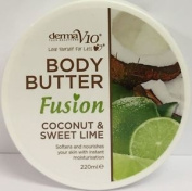Twelve Packs Of Derma V10 Fusion Coconut & Sweet Lime Body Butter 220ml. Deliver