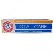 Six Packs Of Arm & Hammer Total Care Baking Soda Toothpaste 125g