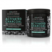 Somatox Coco Smile Premium Grade Activated Charcoal Teeth Whitening Powder...