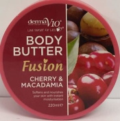 Six Packs Of Derma V10 Fusion Cherry & Macadamia Body Butter 220ml.