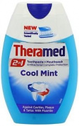 Three Packs Of Theramed 2in1 Toothpaste & Mouthwash Cool Mint 75ml