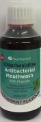 3 Packs Healthpoint Chlorhexidine Antibacterial Mouthwash Peppermint Flav 200ml