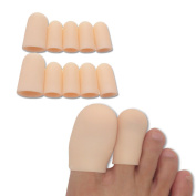 Toe Caps-toe Sleeves For Hammer Toes Gel Finger And Toe Tubes Toes Friction Pain